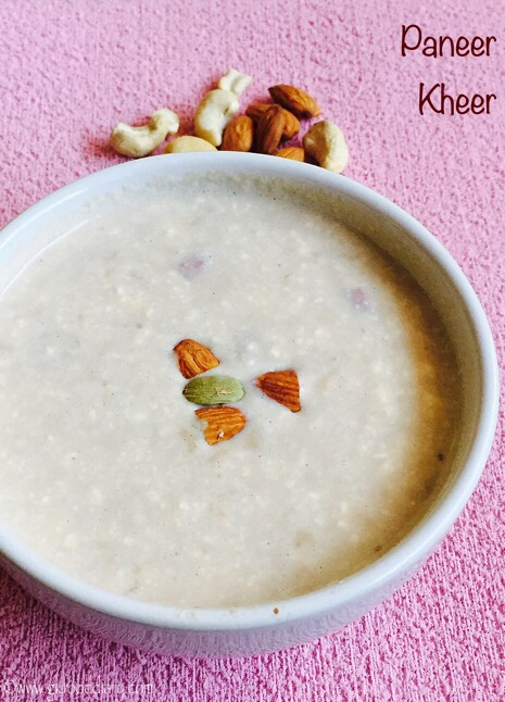 Paneer Kheer Recipe for Toddlers and Kids2