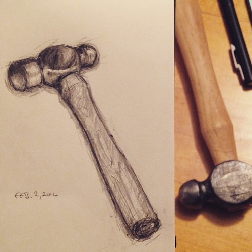 Ball-peen hammer