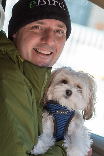 John Richardson and Pip the Birding Dog