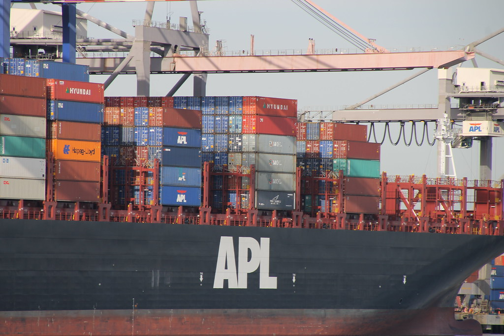 APL Mexico City (American President Lines Container Ship) at the Port of Los Angeles - Pictures from the Sprit Cruises 1-Hour Harbor Bay Cruise (San Pedro, California) - Saturday October 24, 2015