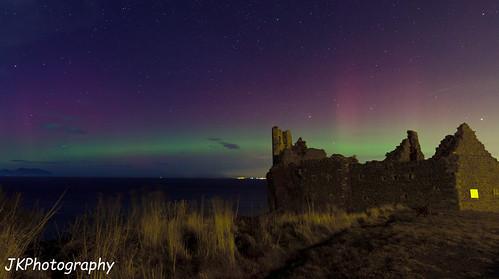 Aurora over Dunure