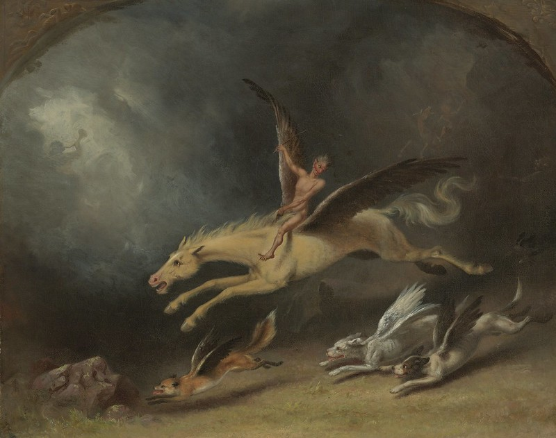 William Holbrook Beard - The Fox  Hunter's Dream, 1859