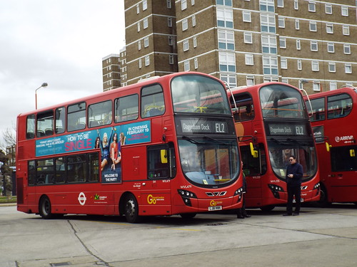 Go-Ahead London (Blue Triangle) WVL479 and WVL335 at Becontree Heath on route EL2