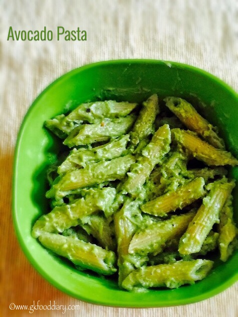 Avocado Pasta recipe for Babies, Toddlers and Kids