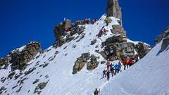 Grań szczytowa Gran Paradiso 4061m.
