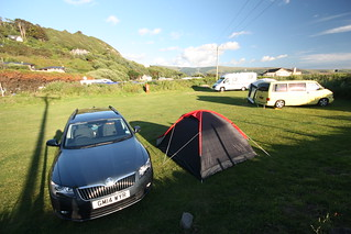 Camping at Hendre Mynach campsite