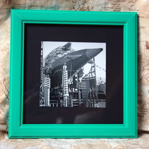 Framed analog photo taken in Disneyland Paris