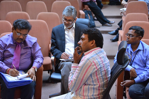 Padmakumar leads a group discussion