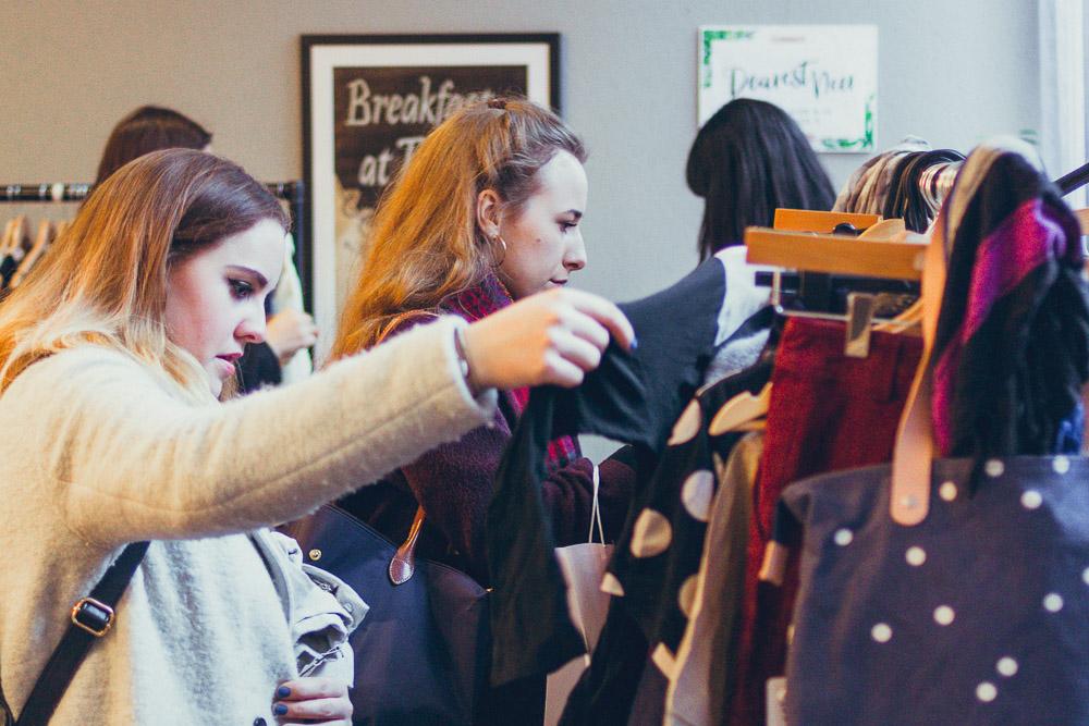 #TheBloggersMarket guests looking through rails