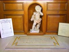 A cherub grieves for Thomas Coram