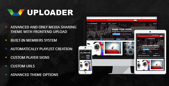 Uploader v2.2.2 – Advanced Media Sharing Theme