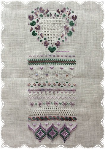 Natasha's Violets by Stitching Alchemy