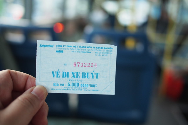 ticket for green bus from city center to Tân Sơn Nhất International Airport . Ho Chi Minh City (Saigon)