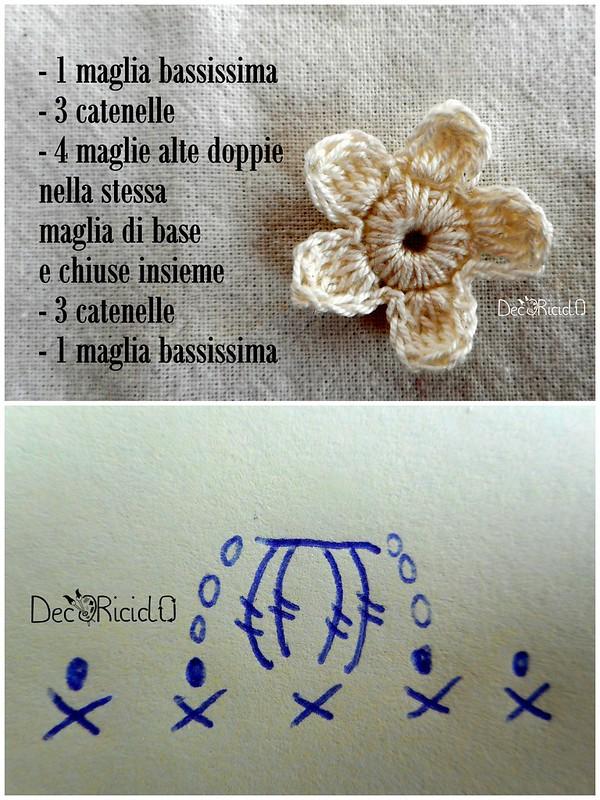 fiori uncinetto un solo schema 6