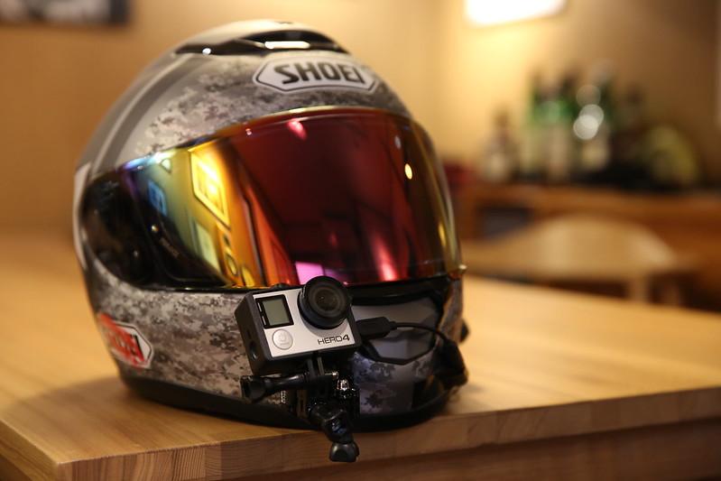 GoPro HERO4 Silver on My Helmet