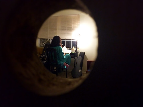 Ana Through the Doorknob Hole (January 3 2015)