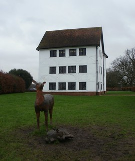 Elizabeth I lodge and deer statues Chingford