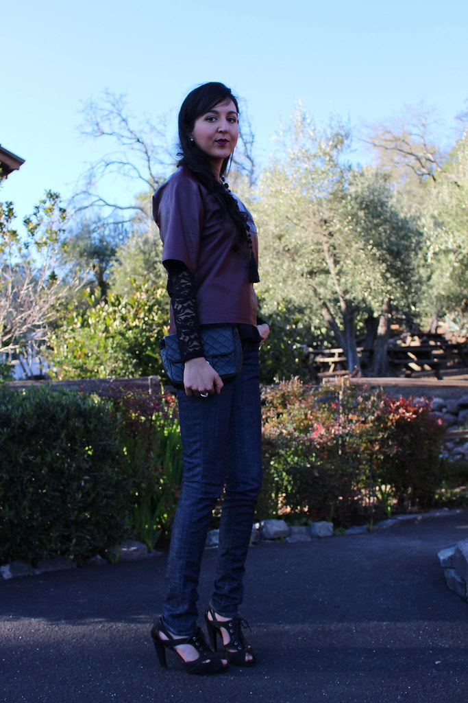 Layering with Leather and Peplum 9