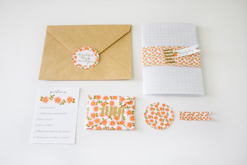 floral penpal letter