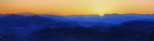 park mountains west sunrise dawn tennessee great scenic national parkway smoky