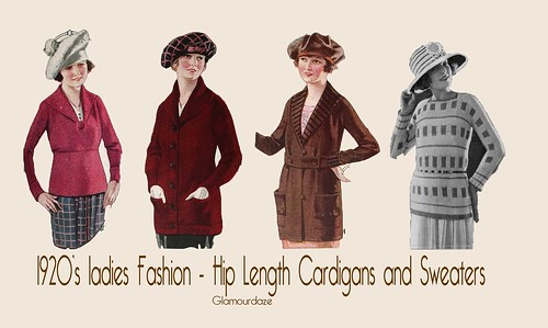 1920s-womens-fashion-sweaters-cardigans-tunics