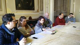 Il Sindaco Vito Cessa e gli assessori Cristofaro, Lioce, Spinelli, Palmieri, Bagalà