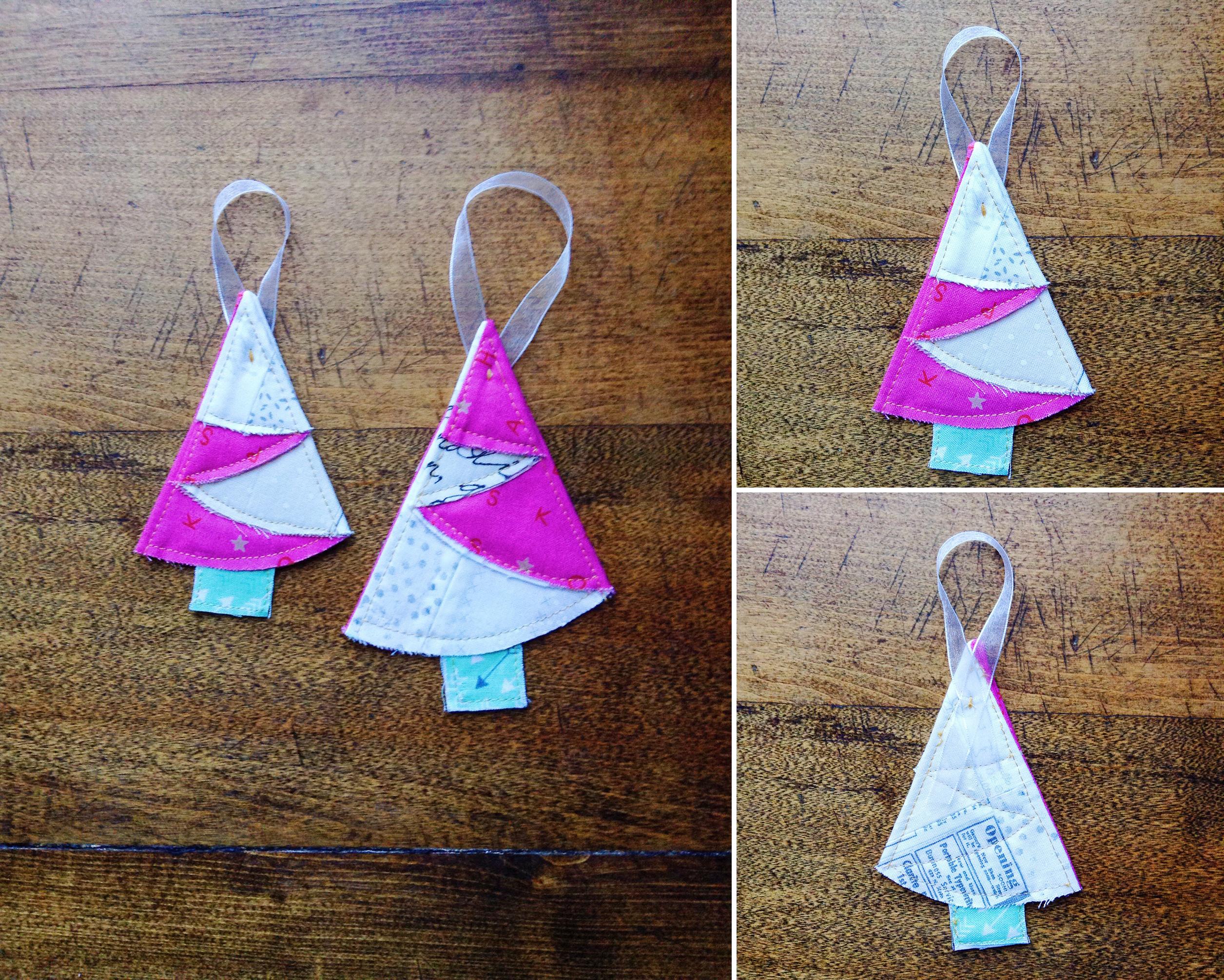folded trees ornaments