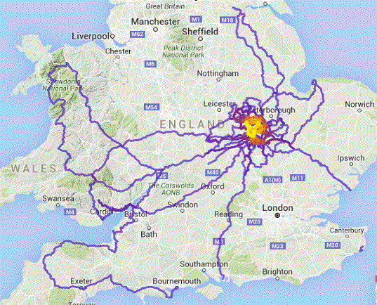 2015 ride heat map-UK only