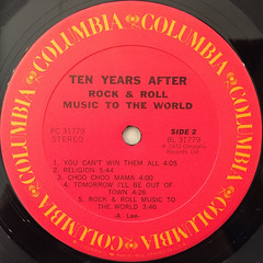TEN YEARS AFTER:ROCK & ROLL MUSIC TO THE WORLD(LABEL SIDE-B)