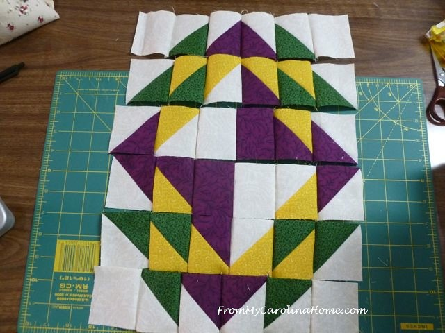 Mardi Gras Mini Quilt | From My Carolina Home