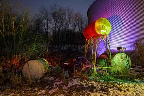 Notley Hawkins Photography, Night Photography, Fuel Tanks, Rural Photography, Light Painting