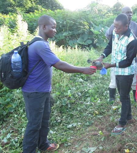 Alatcho receives traditional liquor for libation