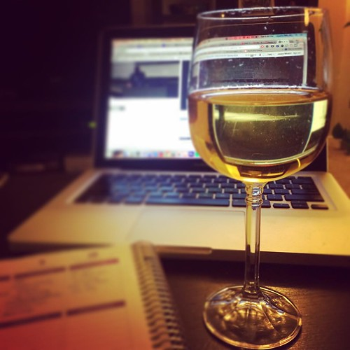 Homework and my last glass of wine for the next 40 days. #mbalife #lent #fattuesday