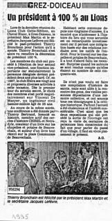 Max président 1995