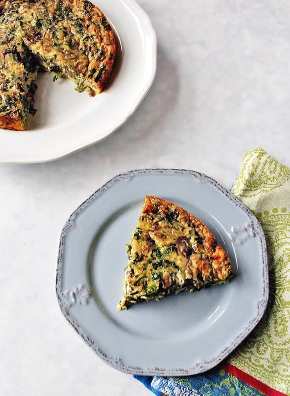 Mushroom and Kale Egg Bake