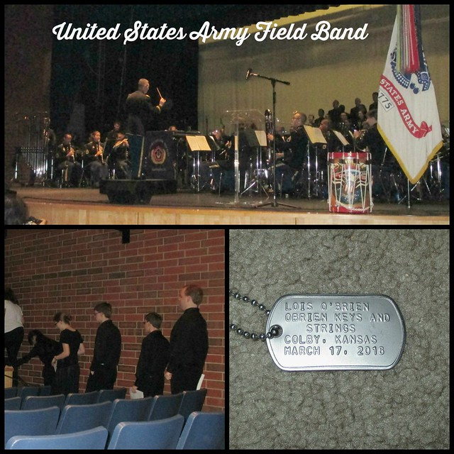 Army Field Band Collage with text