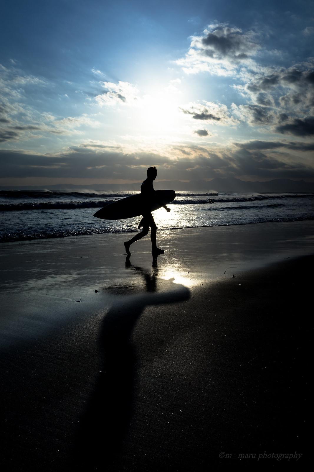Shadow on the beach