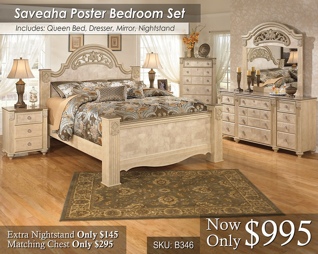 Saveaha Poster Bed Set