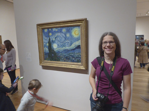 Me with Van Gogh's Starry Night