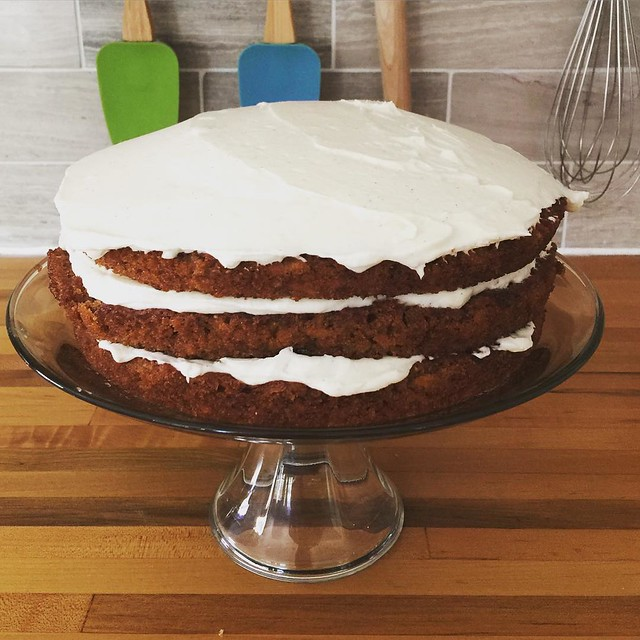 Carrot graham cake for dessert! (Yes recipe by @smittenkitchen !)
