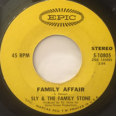 SLY & THE FAMILY STONE:FAMILY AFFAIR(LABEL SIDE-A)