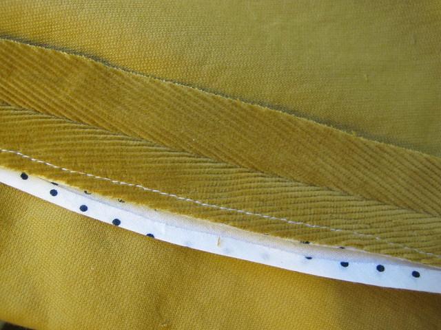 Corduroy Mini Skirt - bound seams