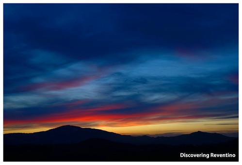 La Serra Alta e il Reventino al tramonto