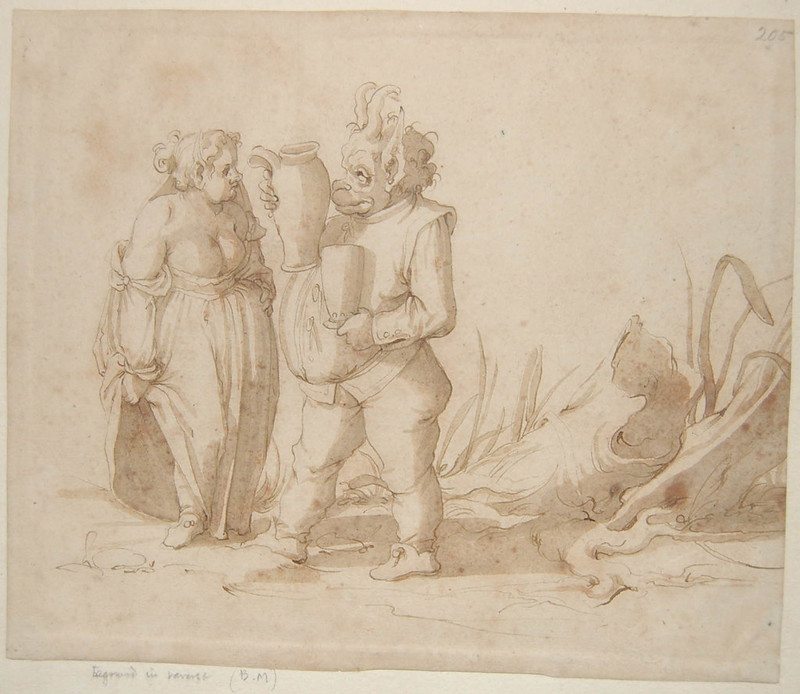 Arent van Bolten - Monster 205, from collection of 425 drawings, 1588-1633