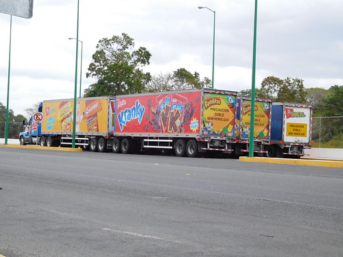 road travel truck mexico driving trucks colourful travelogue truc doubletrailer