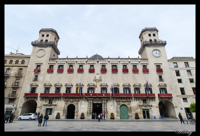 Visita palacio barroco Ayuntamiento Alicante - Fachada del Ayuntamiento de Alicante