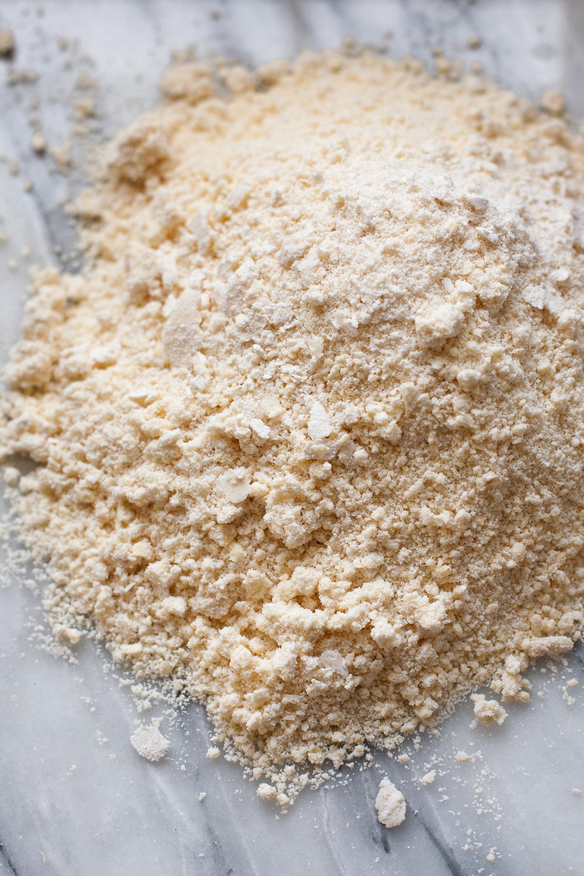 Making cassava flour crust for gluten-free quiche lorraine