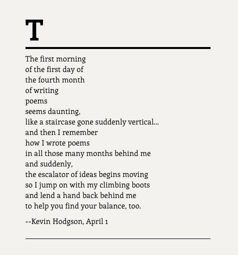 Poem April 1
