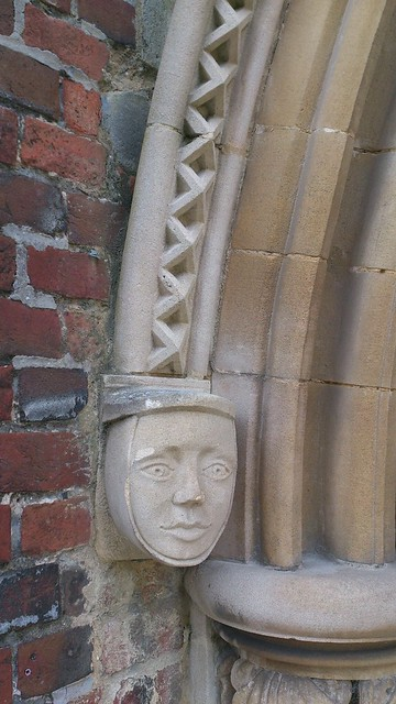 Corbel on exterior of Romsey Abbey