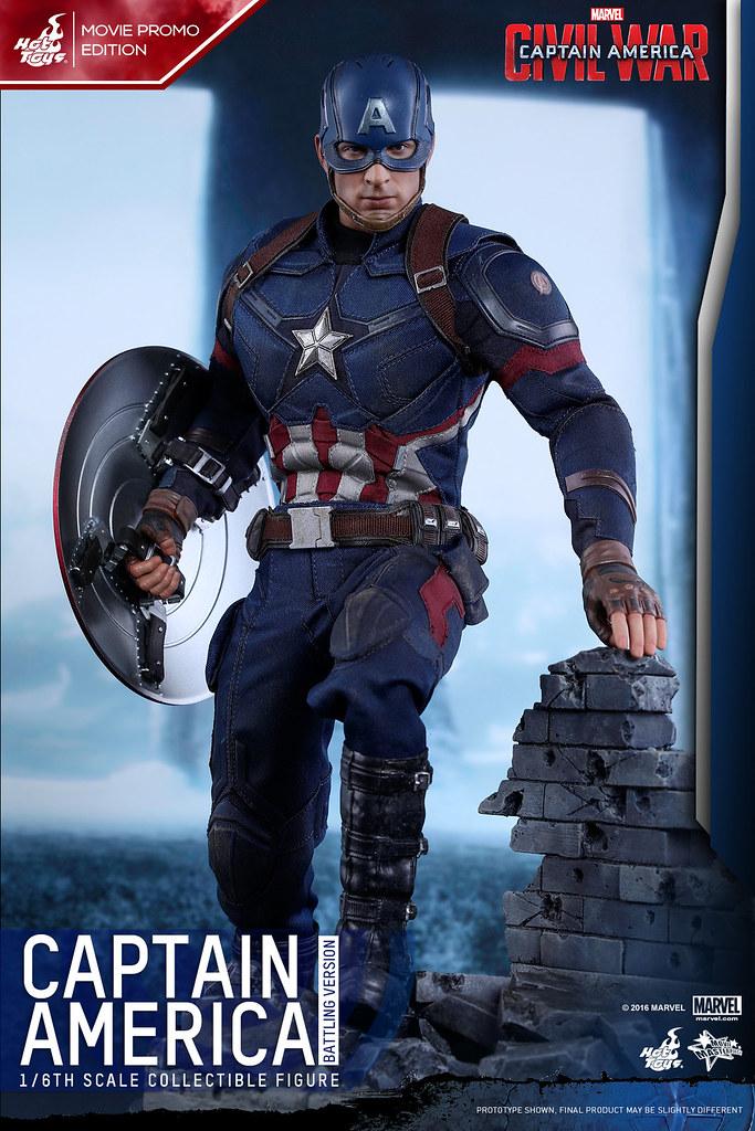 Hot Toys – MMS360 – 美國隊長3:英雄內戰【美國隊長戰鬥版】Captain America 1/6 比例人偶作品